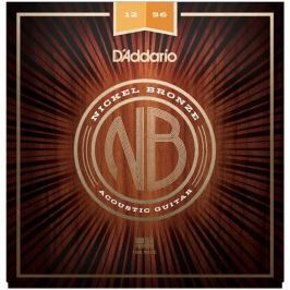 D'Addario NB1256 Nickel Bronze Acoustic Light Top/Med Bottom 12-56