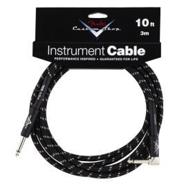 Fender Custom Shop Performance Cable 3 m Black Angled