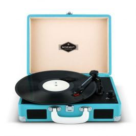 Auna Peggy Sue Retro Suitcase Turntable LP USB Blue