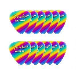 Fender 351 Shape Premium Picks Medium Rainbow 12 Count