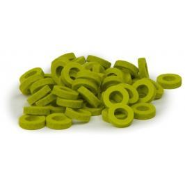 Bulldog Music Gear Natural Felt Rings Lime Pack of 22