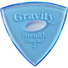 Gravity Picks GSSS2PE Stealth Standard 2.0mm Polished w/ Elipse Blue