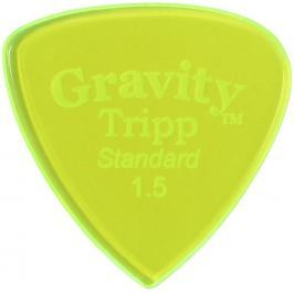 Gravity Picks GTRS15P Tripp Standard 1.5mm Polished Fl. Green