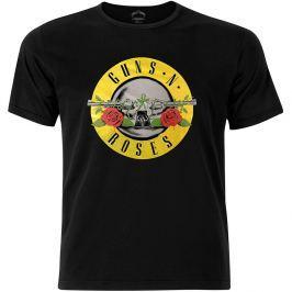 Rock Off Guns N Roses Circle Logo Fog Foil Mens Black T Shirt: L