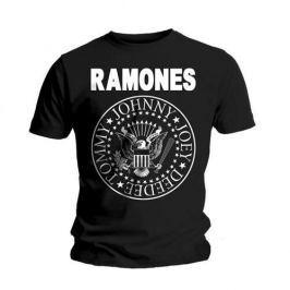 Rock Off Ramones Seal Mens Black T Shirt: S