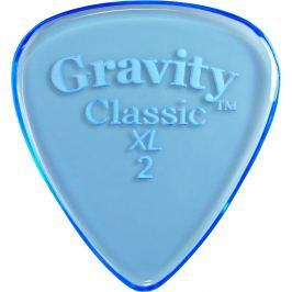 Gravity Picks GCLX2P Classic XL 2.0mm Polished Blue