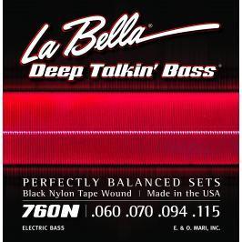 LaBella 760N Deep Talkin' Bass Black Nylon Tape Wound 60-115