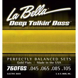LaBella 760FGS Deep Talkin' Bass Gold Flats Standard 45-105