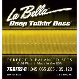 LaBella 760FGS-B Deep Talkin' Bass Gold Flats 5 Standard 45-128
