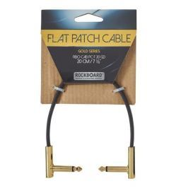 RockBoard Flat Patch Cable Gold 20 cm