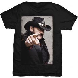 Rock Off Lemmy Pointing Photo Mens Blk T Shirt: M
