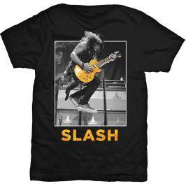 Rock Off Slash Guitar Jump Mens Blk T Shirt: XL