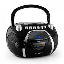 Auna Beeboy Cassette Player CD MP3 USB Black