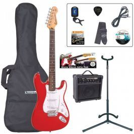 Encore EBP-E6RED Electric Guitar Outfit Red