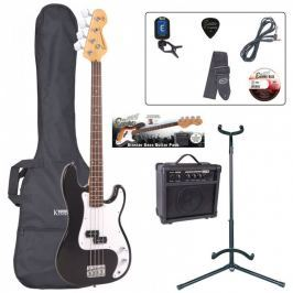 Encore EBP-E4BLK Bass Guitar Outfit Black