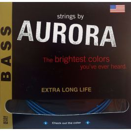 Aurora Premium 5-String Bass Strings 45-125 Blue