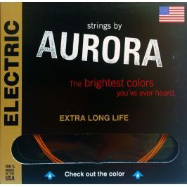 Aurora Premium Electric Guitar Strings Light 09-42 White