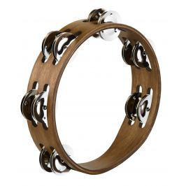 Meinl CTA2WB Compact Wood Tambourine, Stainless Steel 8''
