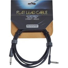 RockBoard Flat Instrument Cable Black 300 cm straight/angled