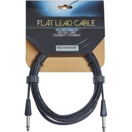 RockBoard Flat Instrument Cable Black 300 cm straight/straight
