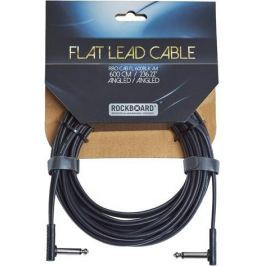 RockBoard Flat Instrument Cable Black 600 cm angled/angled