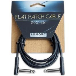 RockBoard Flat Patch Cable Black 100 cm