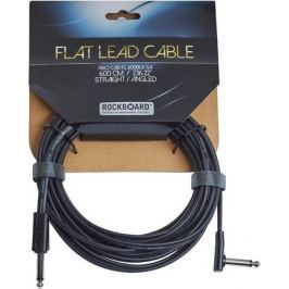RockBoard Flat Instrument Cable Black 600 cm straight/angled