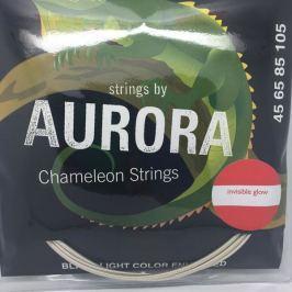 Aurora Invisible Chameleon Bass Strings 45-125 Blue