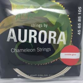 Aurora Invisible Chameleon Bass Strings 45-125 Red
