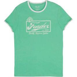 Fender Beer Label Ringer T Sea Foam Green White XXL