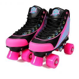 Luscious Skates Disco Diva size 39 black/pink