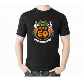 Orange 50th T-Shirt Black XL