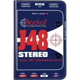 Radial J48 Stereo Phantom Powered Active Direct Box (B-Stock) #909425