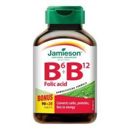 JAMIESON Vitamíny B6, B12 a kyselina listová tbl.110 Doplněk stravy