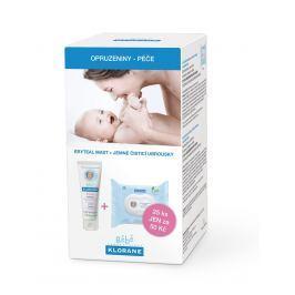 KLORANE bebe Eryteal mast 75 ml + Jemné čisticí ubrousky 25 ks Kosmetika