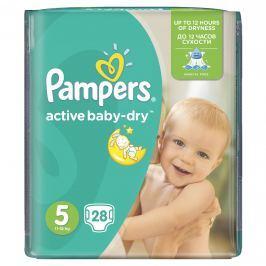 Pampers Active Baby-Dry Dětské pleny velikost 5 Junior 28 ks