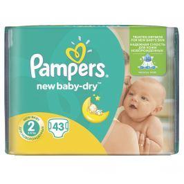 Pampers New Baby-Dry New Baby-Dry dětské pleny velikost 2 Mini 43 ks