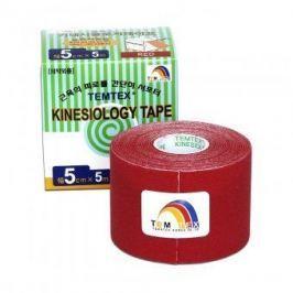 TEMTEX Kinesio tape 5 cm x 5 m tejpovací páska červená
