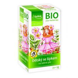 Apotheke BIO Dětský ovocný čaj se šípkem nálevové sáčky 20x 2 g