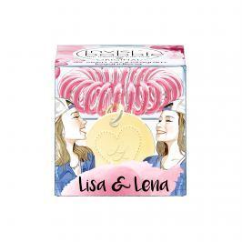 Invisibobble ORIGINAL Lisa & Lena čirá s tmavě růžovým proužkem gumička do vlasů 1ks
