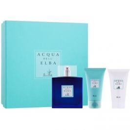 Acqua dell' Elba Blu Men dárková sada III.  toaletní voda 100 ml + sprchový gel 50 ml + tělový krém 50 ml