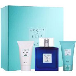 Acqua dell' Elba Blu Men dárková sada IV.  parfémovaná voda 100 ml + šampon na celé tělo 50 ml + krém na obličej a tělo 50 ml
