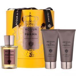 Acqua di Parma Colonia Colonia Intensa dárková sada II.  kolínská voda 100 ml + balzám po holení 75 ml + sprchový gel 75 ml