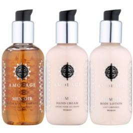 Amouage Memoir dárková sada II.  sprchový gel 100 ml + tělové mléko 100 ml + krém na ruce 100 ml
