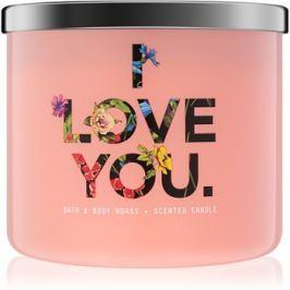 Bath & Body Works Georgia Peach vonná svíčka 411 g limitovaná edice I Love You