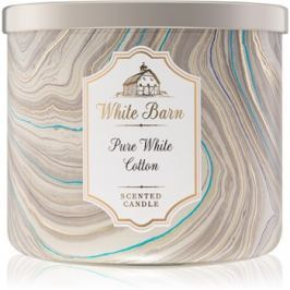 Bath & Body Works Pure White Cotton vonná svíčka 411 g