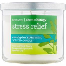 Bath & Body Works Stress Relief Eukalyptus Spearmint vonná svíčka 411 g
