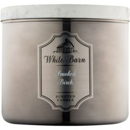 Bath & Body Works White Barn Smoked Birch vonná svíčka 411 g