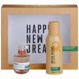 Benetton United Dream Stay Positive dárková sada I. toaletní voda 50 ml + deodorant ve spreji 150 ml