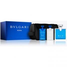Bvlgari BLV pour homme dárková sada VI.  toaletní voda 100 ml + balzám po holení 75 ml + sprchový gel 75 ml + kosmetická taška
